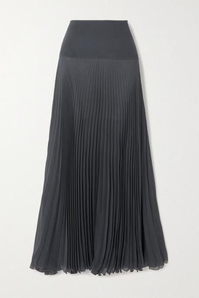 Chloé Chloé - Plissé-crepon Maxi Skirt - Charcoal