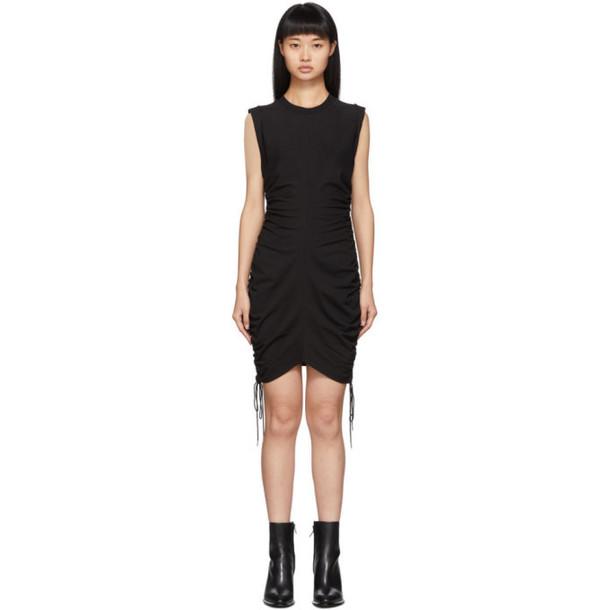 alexanderwang.t Black Wash and Go Side Tie Dress