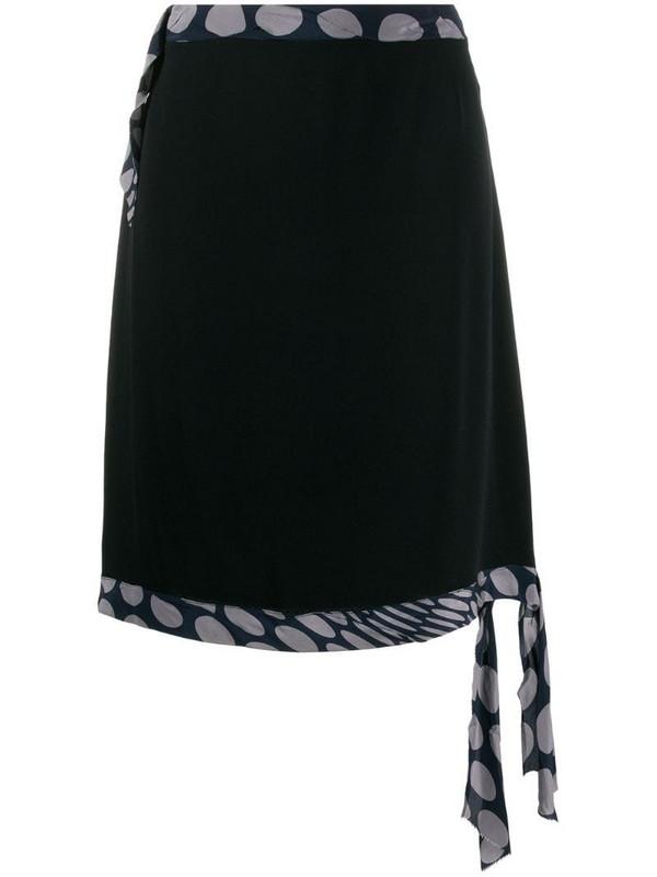 Maison Martin Margiela Pre-Owned 1990's dot detail A-line skirt in black