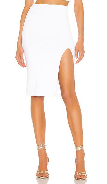 superdown Catie Fitted Midi Skirt in White