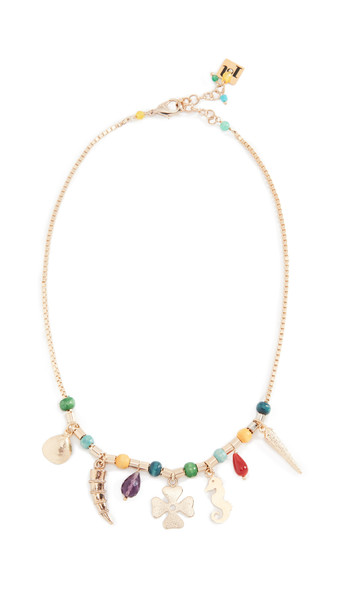 Rosantica Brazil Necklace in gold / multi