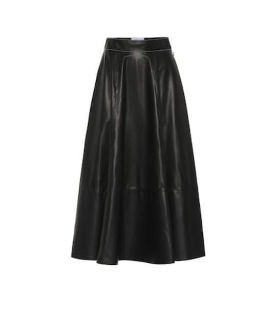Loewe Lamb leather skirt in black