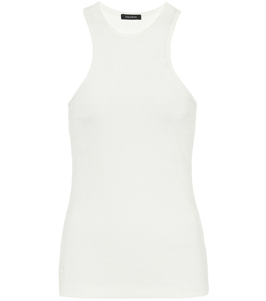 Goldsign The Rib jersey tank top in white