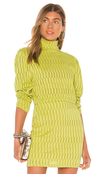 KENDALL + KYLIE KENDALL + KYLIE Puff Sleeve Top in Green
