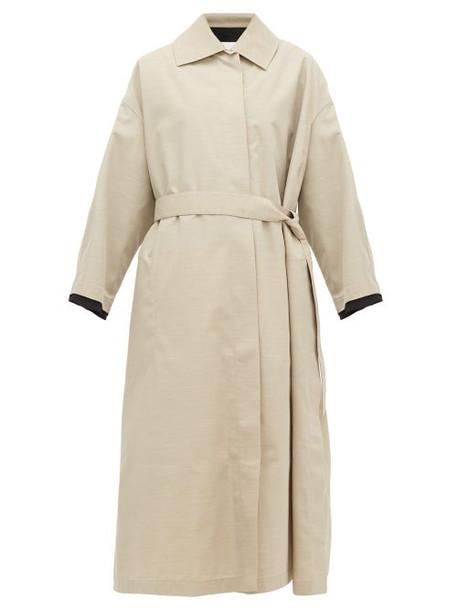 Jil Sander - Belted Canvas Trench Coat - Womens - Beige Multi