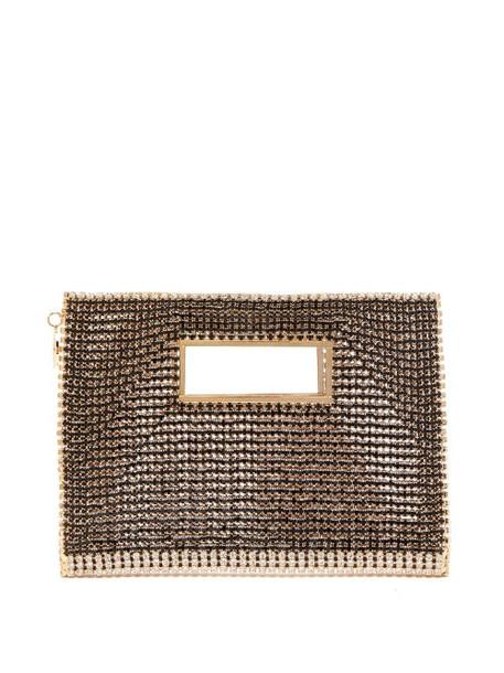 Rosantica - Iside Crystal-embellished Envelope Clutch - Womens - Black Multi
