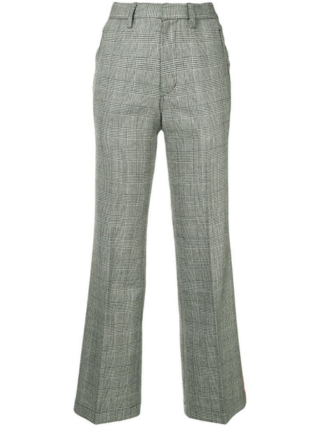 Kolor monotone checked trousers in grey