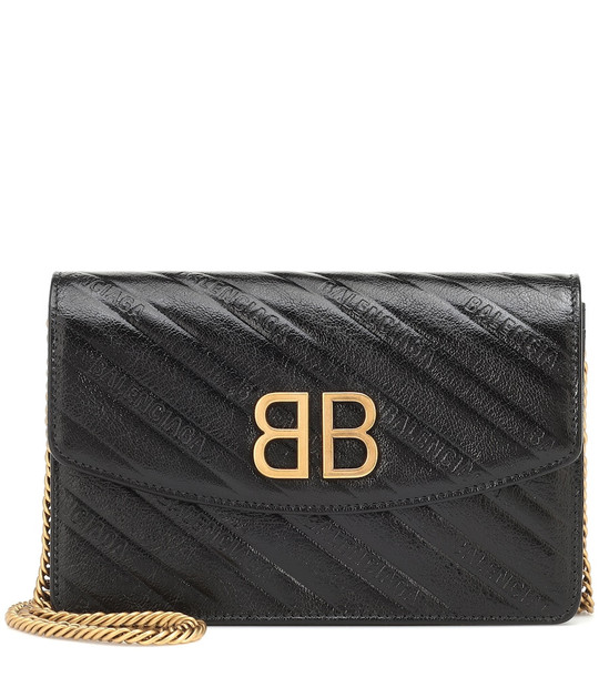 Balenciaga BB Chain leather shoulder bag in black