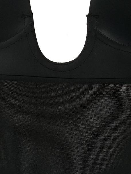 Fashion Forms U-Plunge self-adhesive thong bodysuit in black