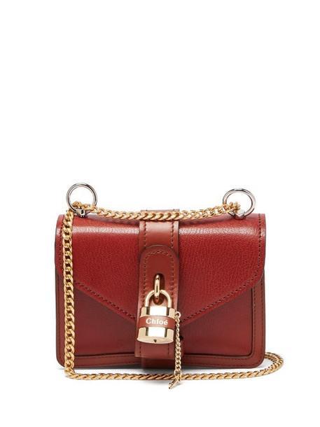 Chloé Chloé - Aby Mini Leather Cross-body Bag - Womens - Dark Brown