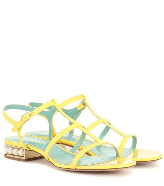 Nicholas Kirkwood Casati leather sandals in yellow