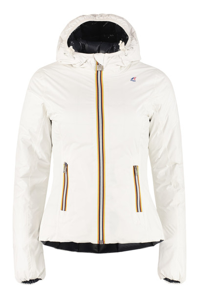 K-Way Lily Reversible Padded Jacket in white