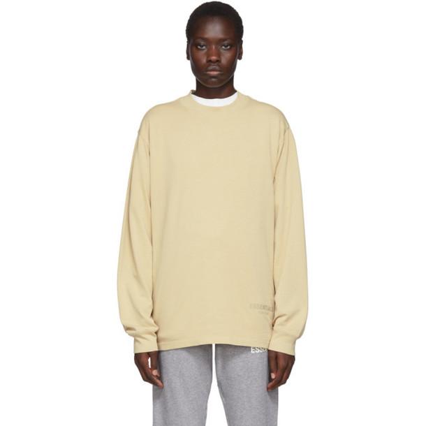 Essentials SSENSE Exclusive Beige Boxy Long Sleeve T-Shirt