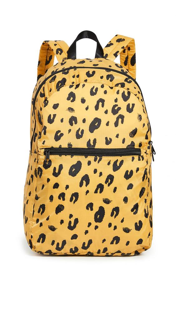 BAGGU Packable Backpack in leopard
