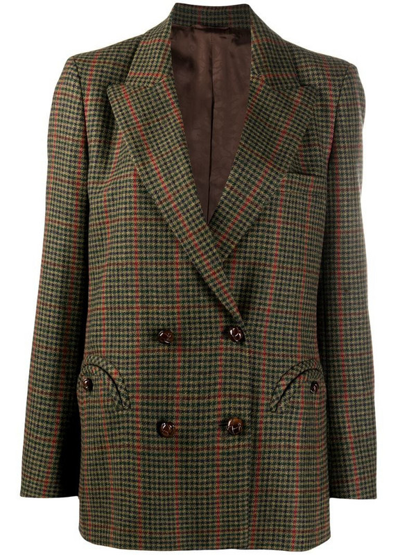 Blazé Milano double-breasted wool blazer in green
