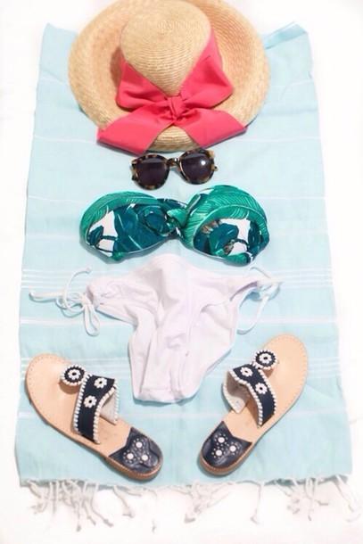 swimwear tropical tropical tropical pattern white white swimwear white swimwear swimsuit bottom tropical swimwear tropical swimwear hat shoes