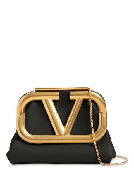 VALENTINO GARAVANI Supervee Mini Leather Clutch in black