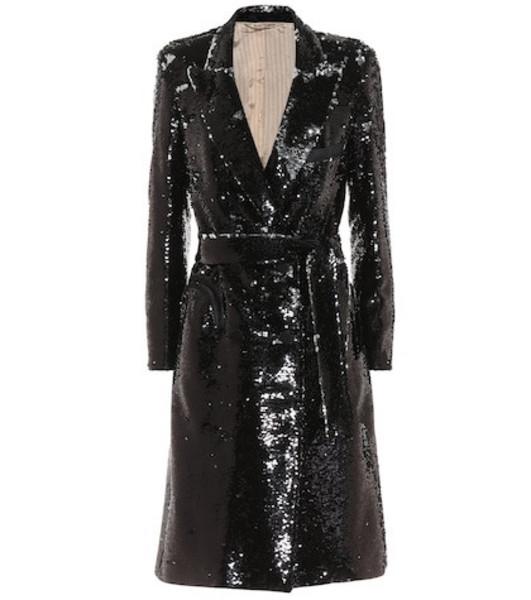 Blazé Milano Kelpie sequined blazer dress in black