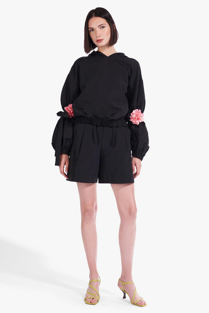 Staud ASTER SWEATSHIRT | BLACK