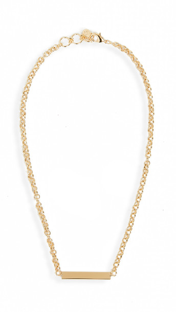 Gorjana Lou Tag Necklace in gold
