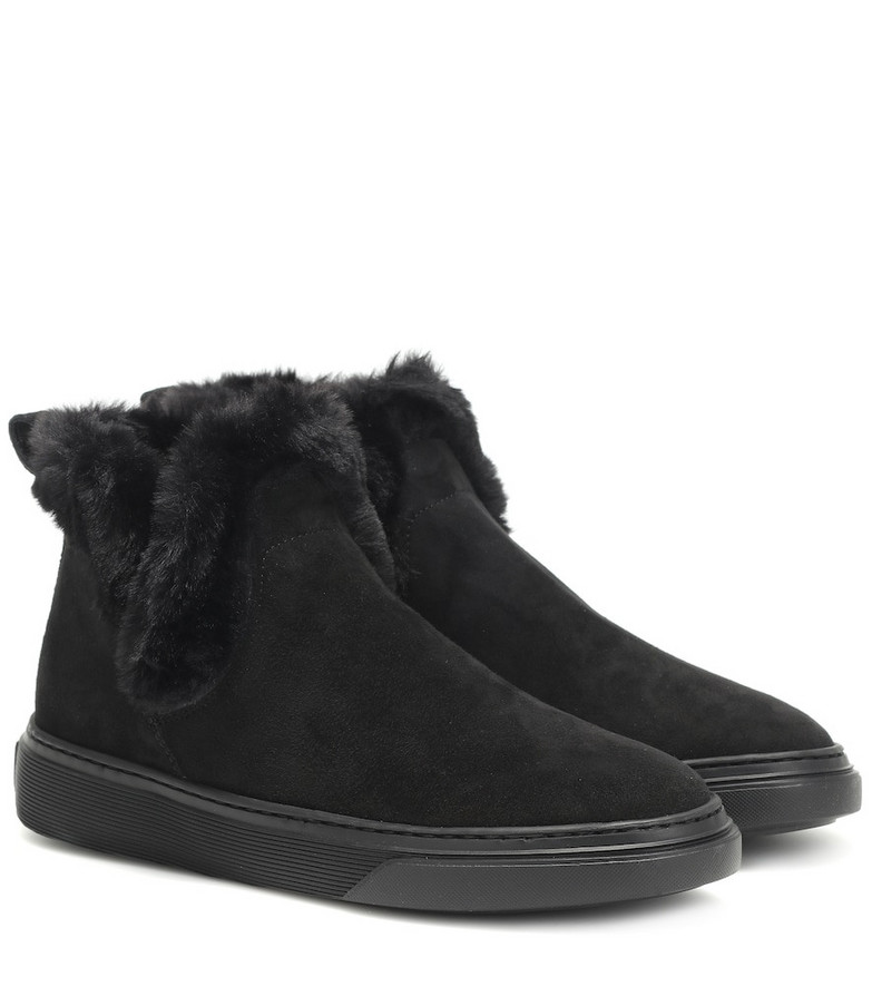 Hogan Wintery Feeling suede ankle boots in black