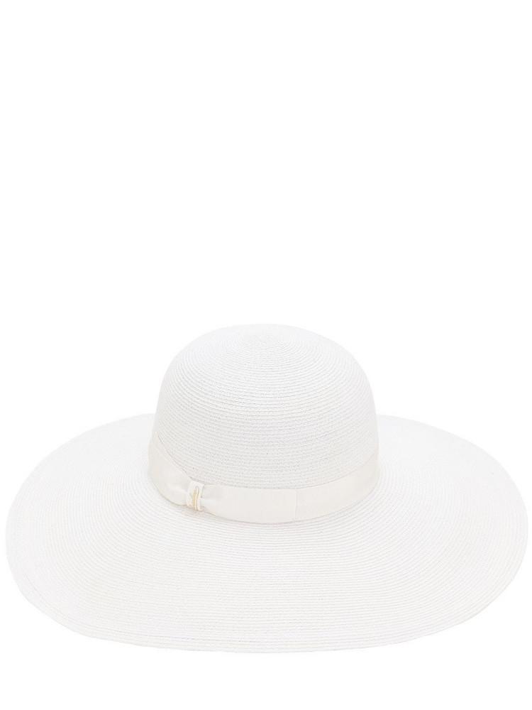 BORSALINO Pamela Hemp Hat in white