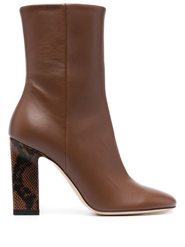 Wandler Isa leather boots in brown
