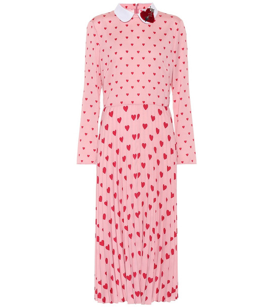 REDValentino Printed midi dress in pink