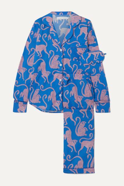 Desmond & Dempsey - Soleia Printed Cotton-voile Pajama Set - Navy