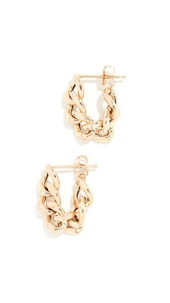 Zoe Chicco 14k Gold Chain Hoop Earrings