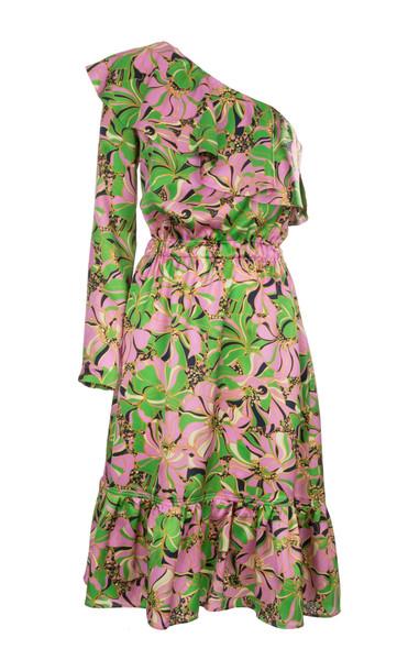 La DoubleJ Boogie One-Shoulder Silk Dress Size: L