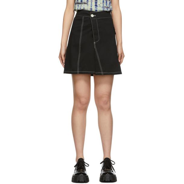 Proenza Schouler Black Asymmetric Utility Skirt