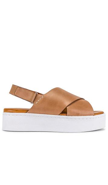 Tony Bianco Peach Flatform Sandal in Brown