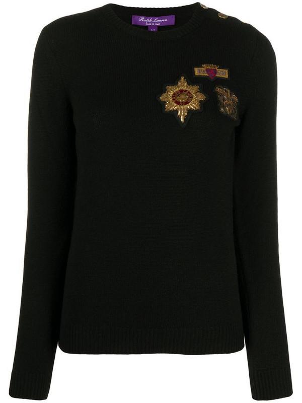 Ralph Lauren Collection Crest cashmere jumper in black