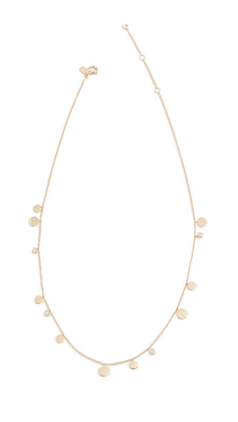 EF Collection 14k Gold and Diamond Confetti Chain Necklace