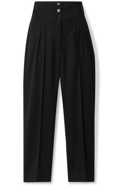 Nili Lotan - Reta Cropped Wool-blend Twill Straight-leg Pants - Black