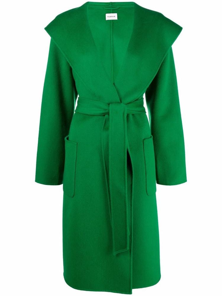 P.A.R.O.S.H. P.A.R.O.S.H. hooded belted coat - Green