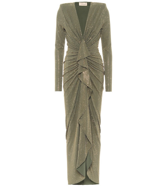 Alexandre Vauthier Crystal-embellished gown in green