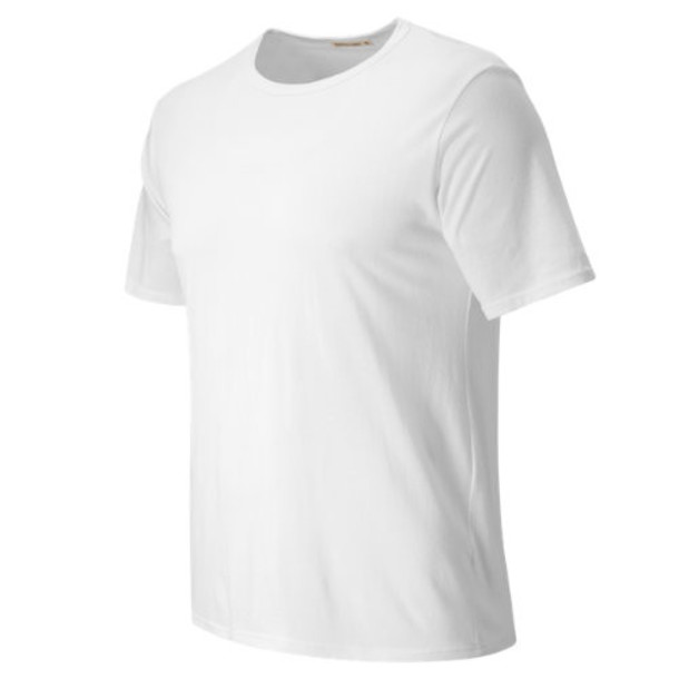 New Balance 63801 Men's Signature Basics Tee - White (MT63801EWT)