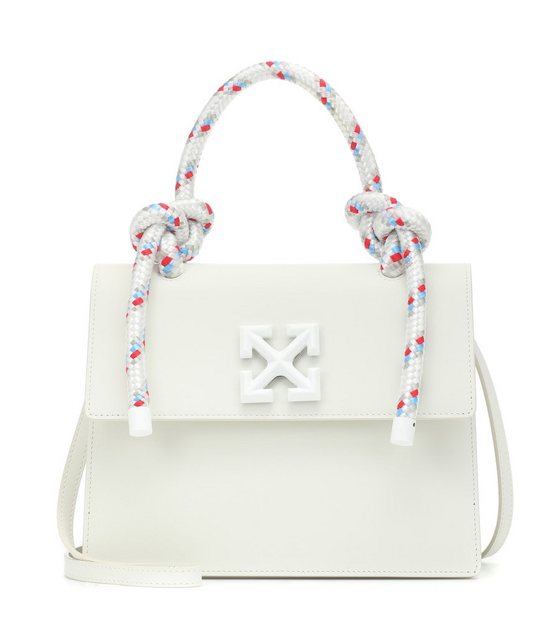 Off-White Jitney 2.8 Medium Gummy leather tote in white