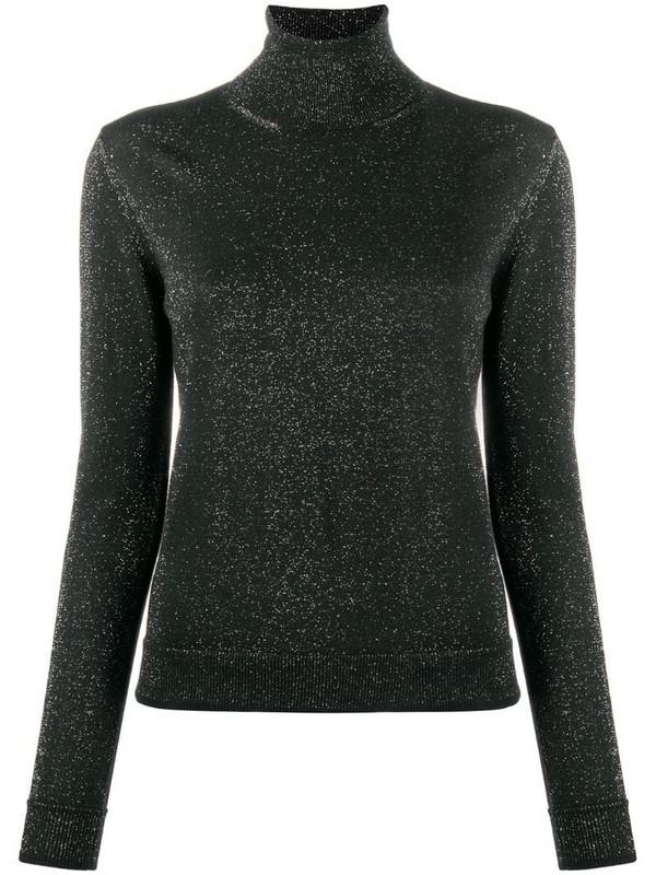 Roberto Collina metallic knit jumper in black