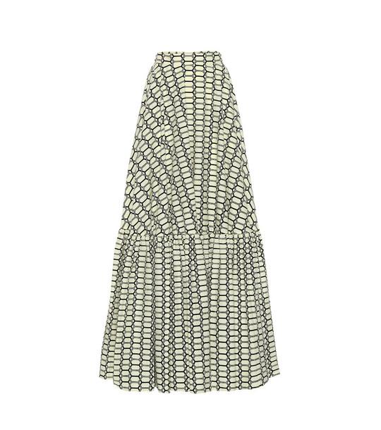 Plan C Printed cotton maxi skirt