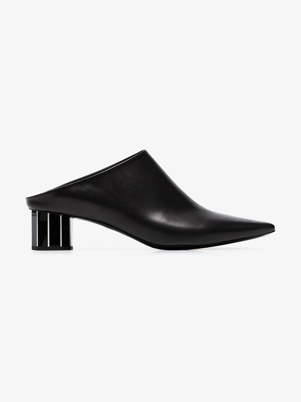 Proenza Schouler Plexi Heel Mules in black