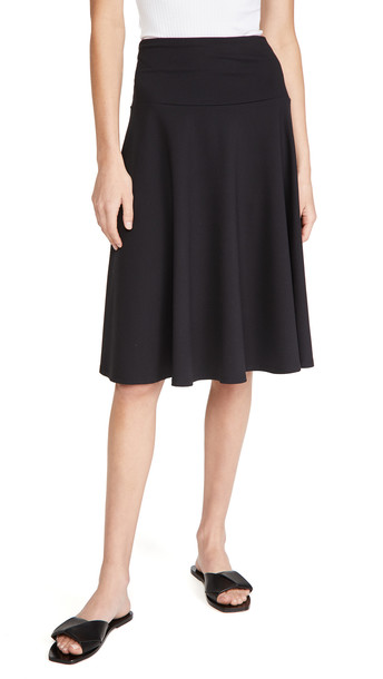 Susana Monaco High Waisted Tea Skirt in black