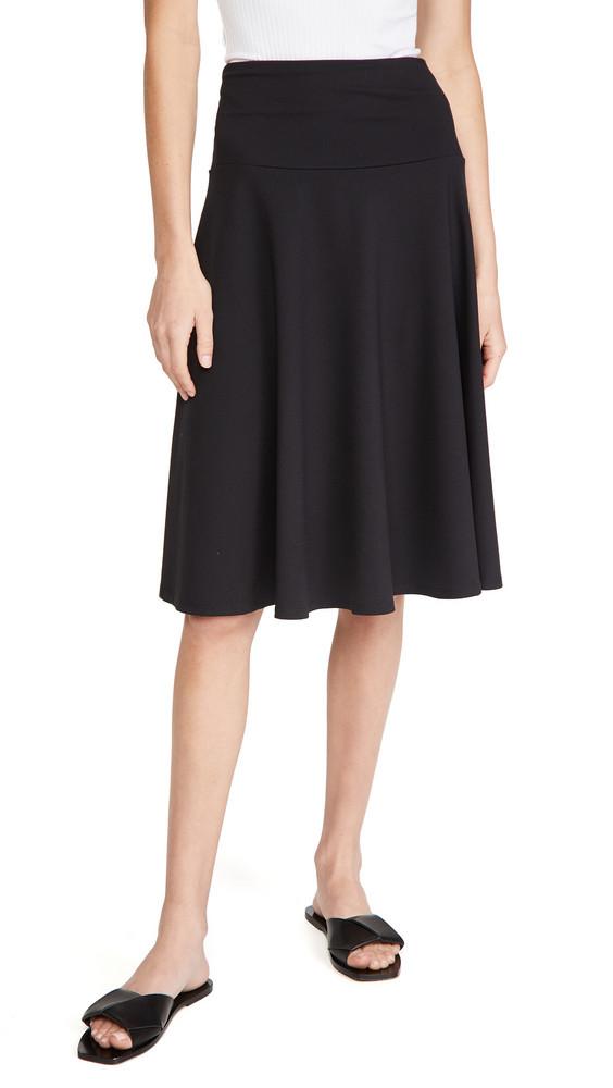 Susana Monaco High Waisted Tea Skirt in black