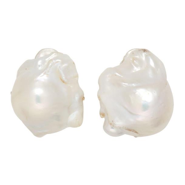 Monies Silver Baroque Pearl Earrings