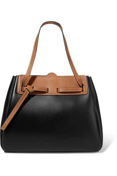 Loewe - Lazo Two-tone Leather Tote - Black