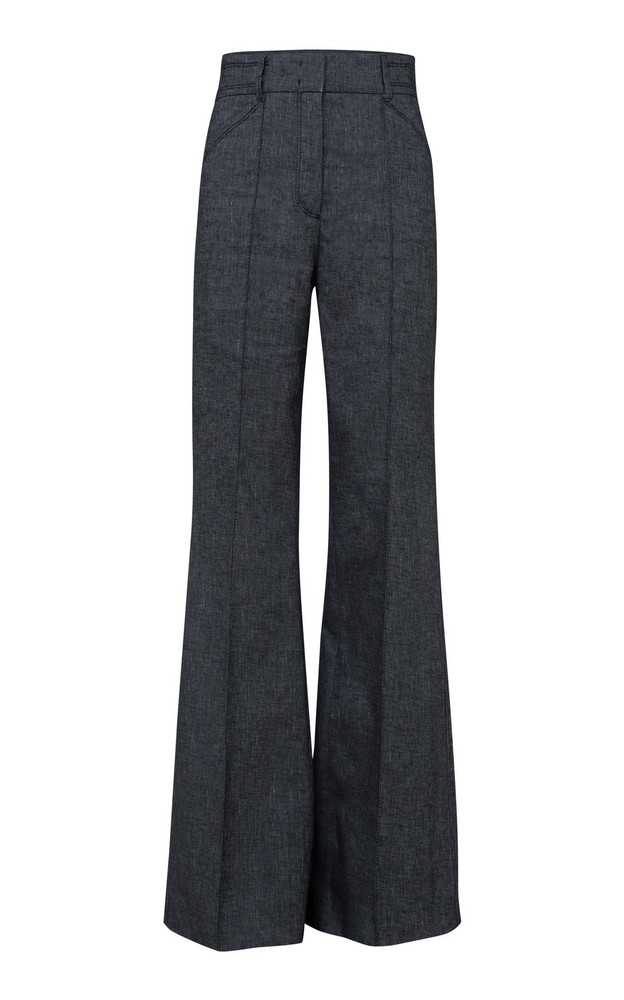 Dorothee Schumacher Denim Coolness Tailored Wide Leg Pant in grey