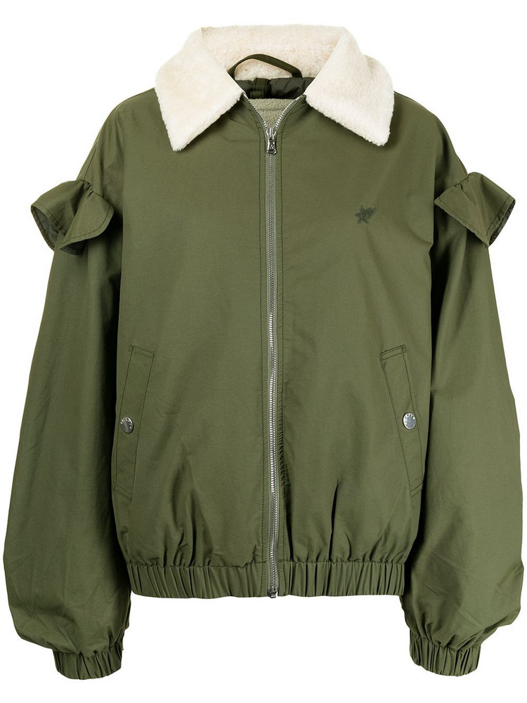 BAPY BY *A BATHING APE® BAPY BY *A BATHING APE® contrast-collar ruffle-detail jacket - Green