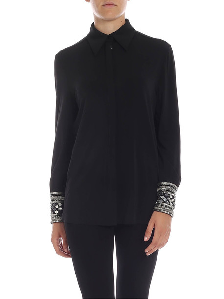 Alberta Ferretti - Shirt With Micro-beads And Sequins in black